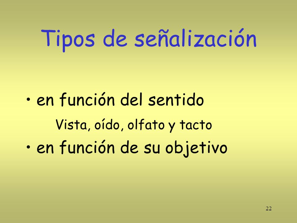 Tipos de señalización en función del sentido