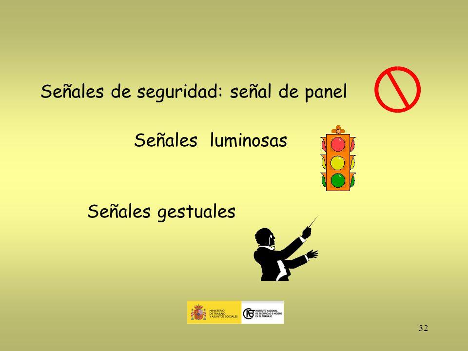 Señales de seguridad: señal de panel