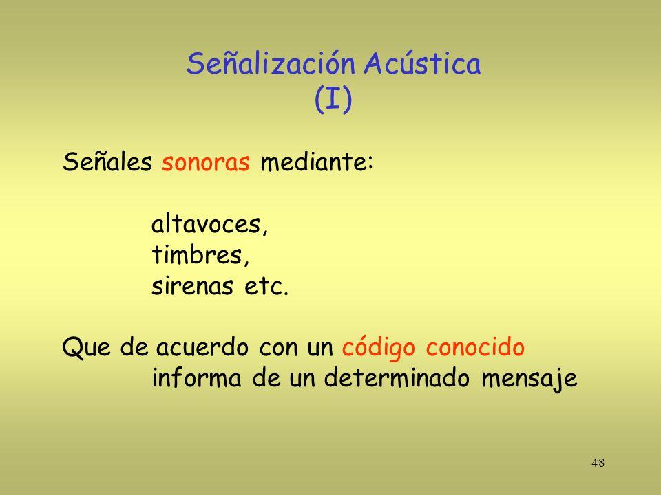 Señalización Acústica (I)