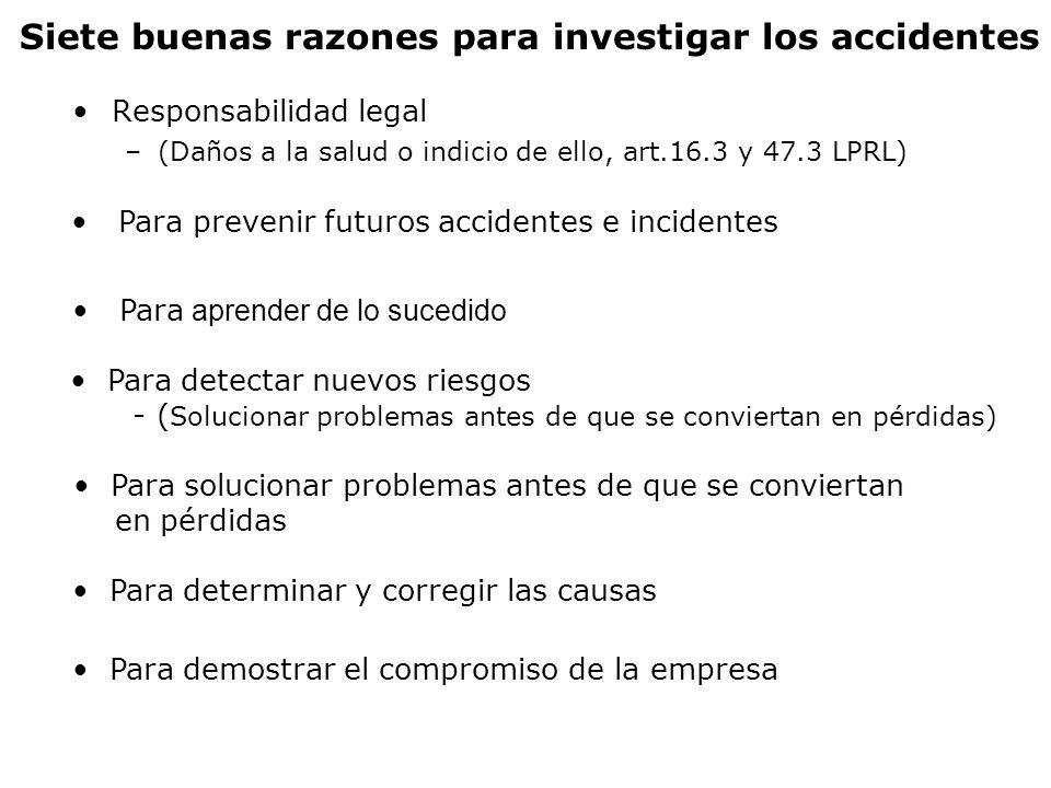 Siete buenas razones para investigar los accidentes
