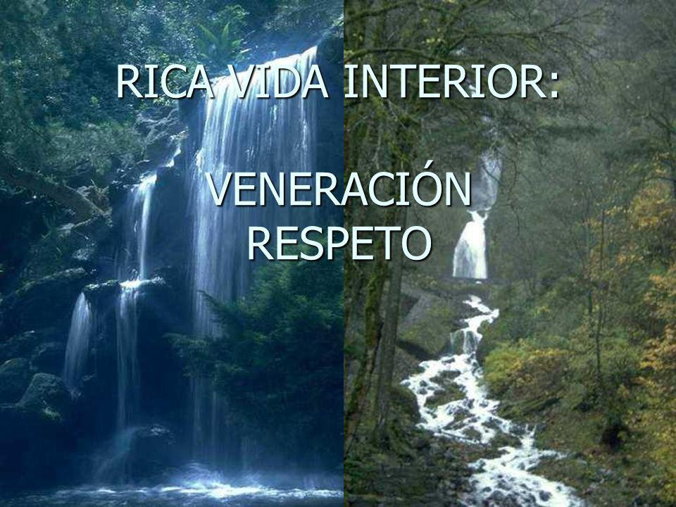 RICA VIDA INTERIOR: VENERACIÓN RESPETO