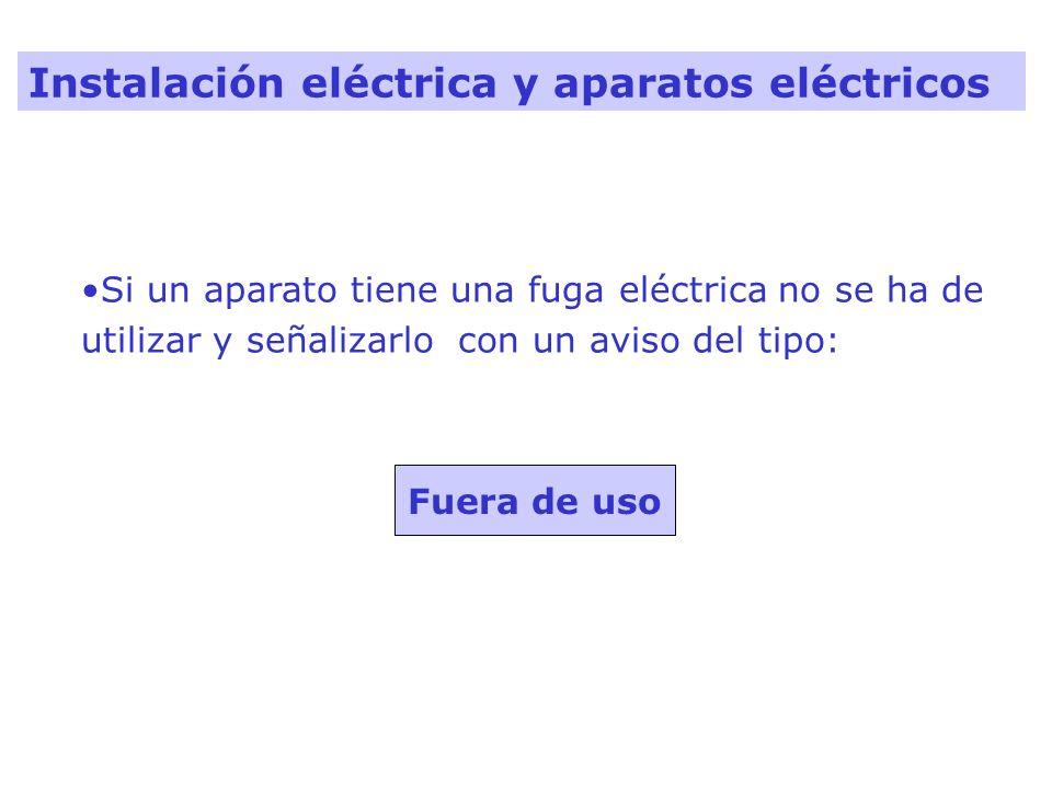 Instalación eléctrica y aparatos eléctricos