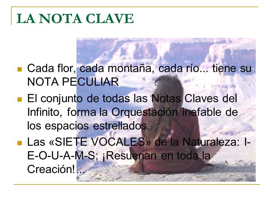 LA NOTA CLAVECada flor, cada montaña, cada río... tiene su NOTA PECULIAR.