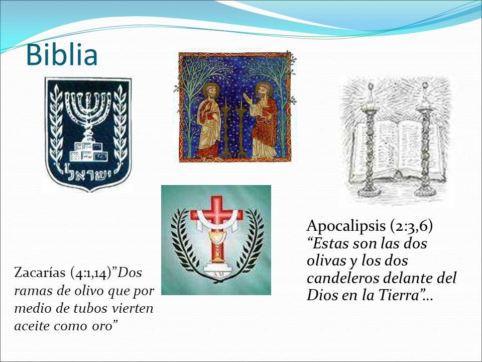 BibliaApocalipsis (2:3,6) Estas son las dos olivas y los dos candeleros delante del Dios en la Tierra …