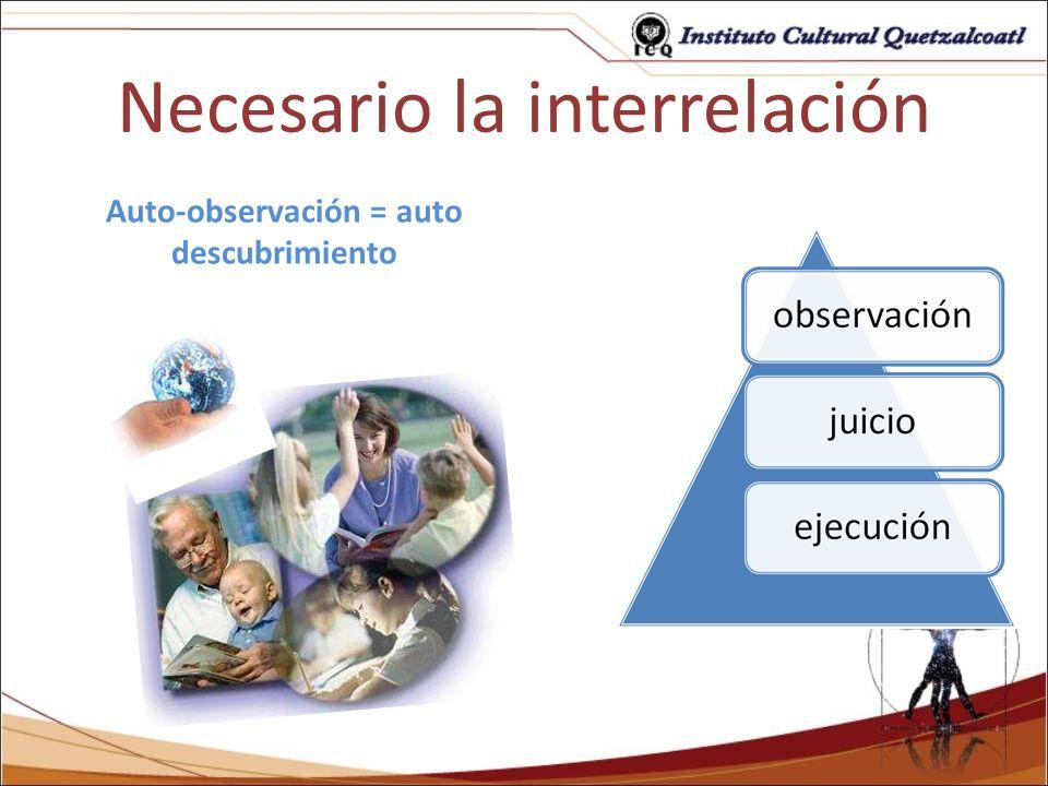 Necesario la interrelación
