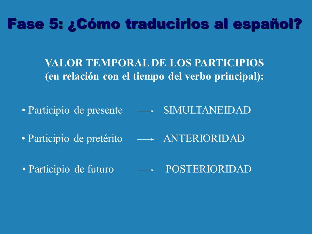 Fase 5: ¿Cómo traducirlos al español