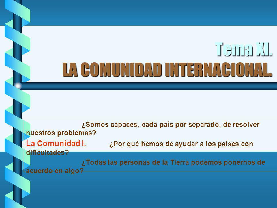 Tema XI. LA COMUNIDAD INTERNACIONAL.