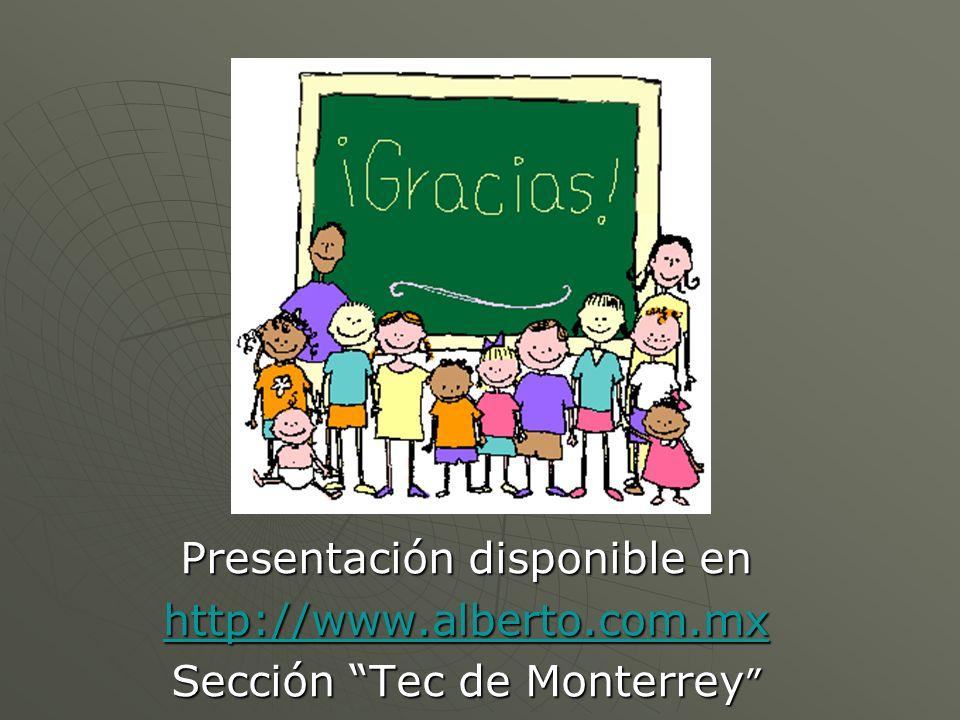 Presentación disponible en http://www.alberto.com.mx