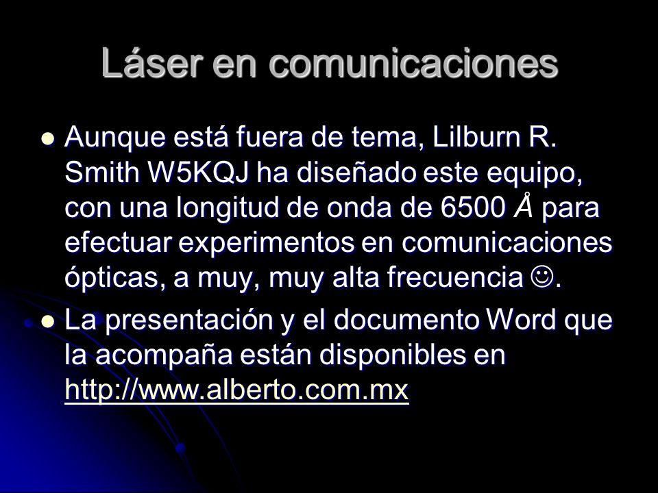 Láser en comunicaciones