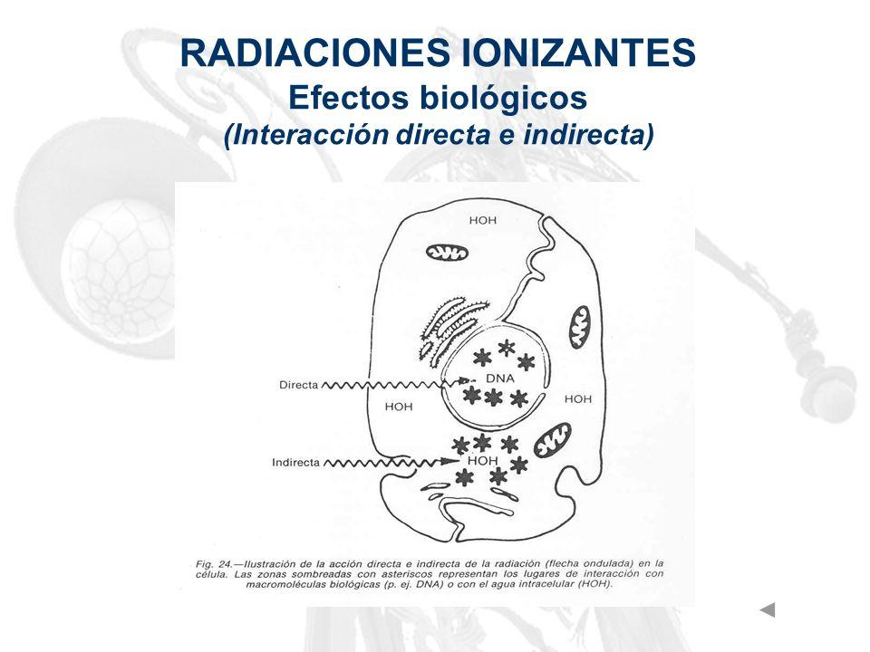 RADIACIONES IONIZANTES (Interacción directa e indirecta)