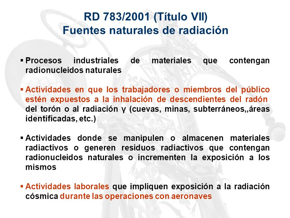 Fuentes naturales de radiación