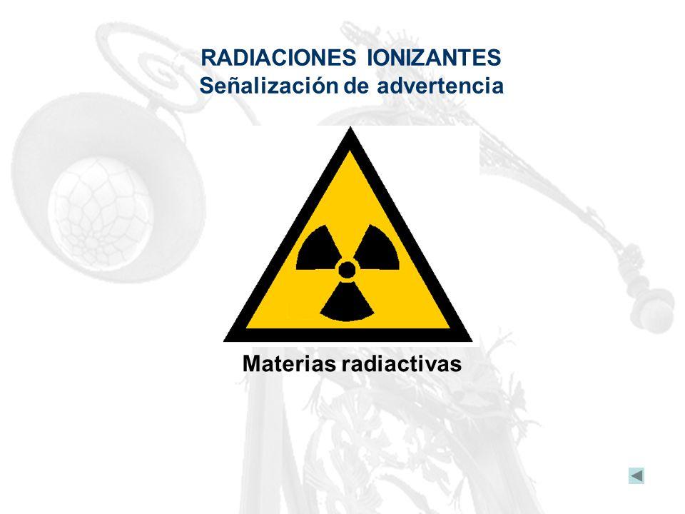 RADIACIONES IONIZANTES Señalización de advertencia