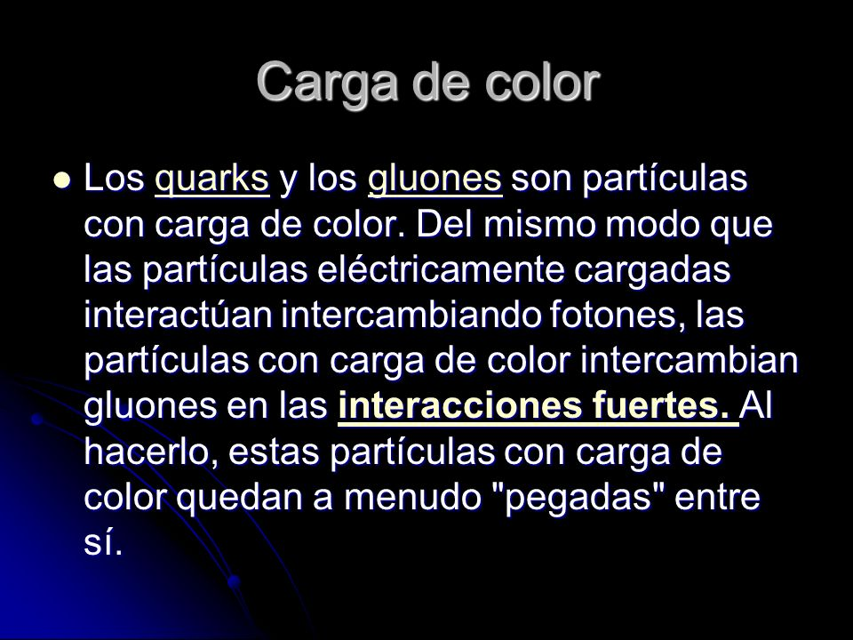 Carga de color
