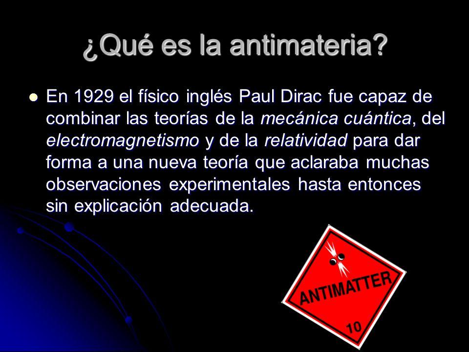 ¿Qué es la antimateria