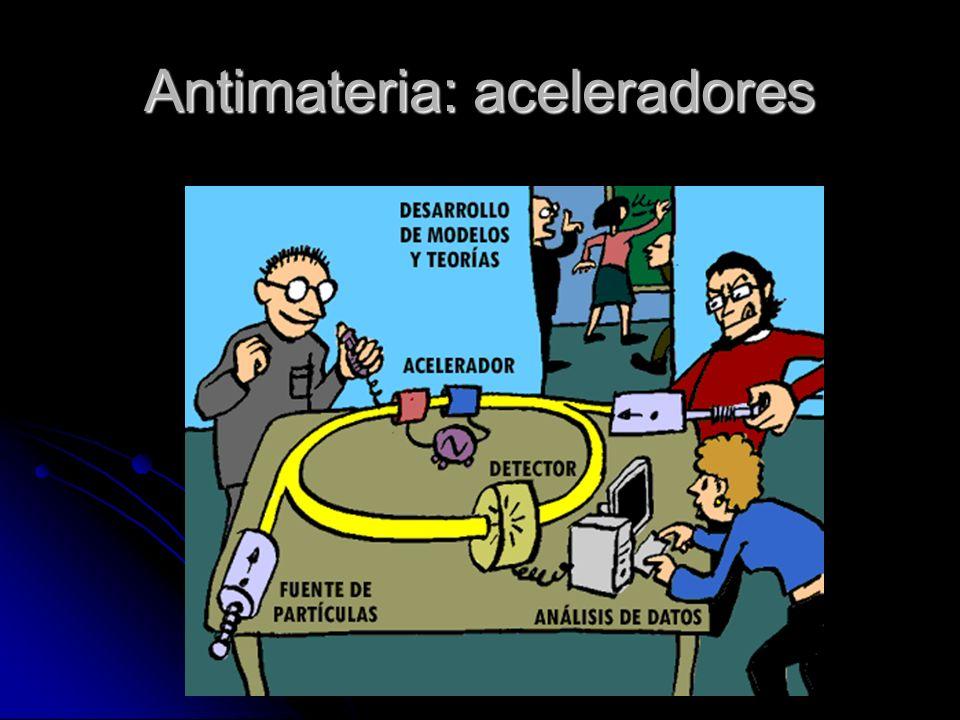 Antimateria: aceleradores