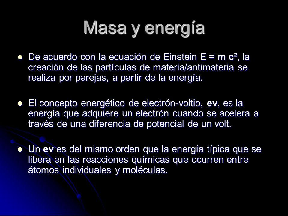 Masa y energía
