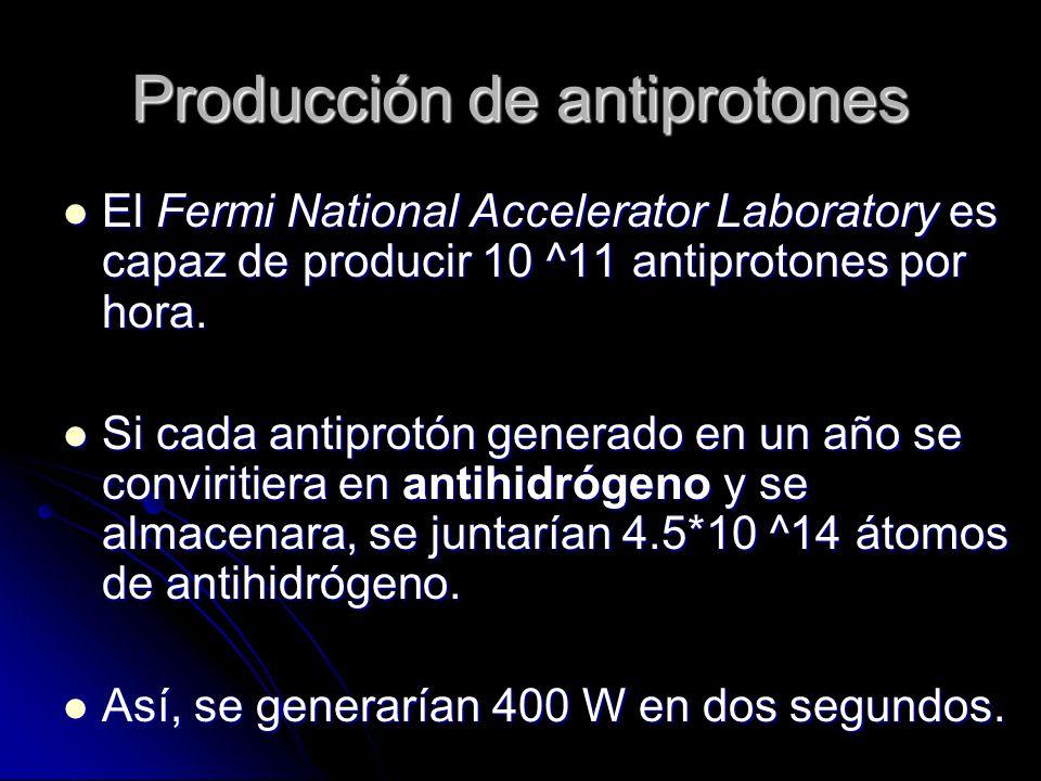 Producción de antiprotones