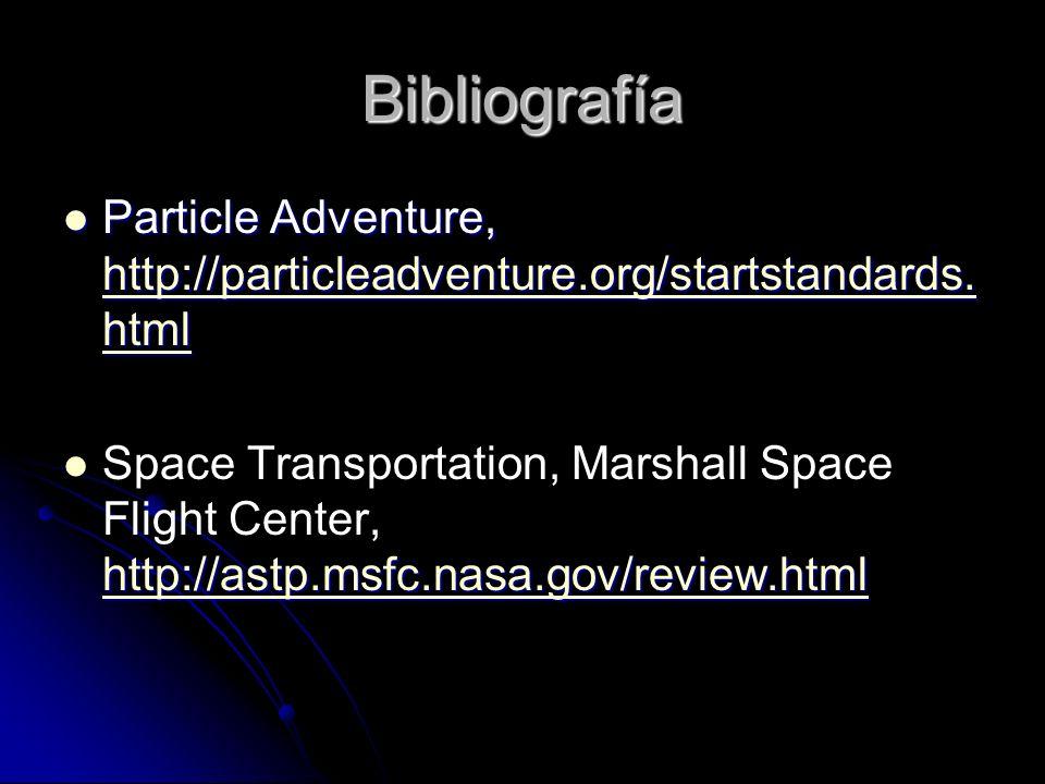 Bibliografía Particle Adventure, http://particleadventure.org/startstandards.html.