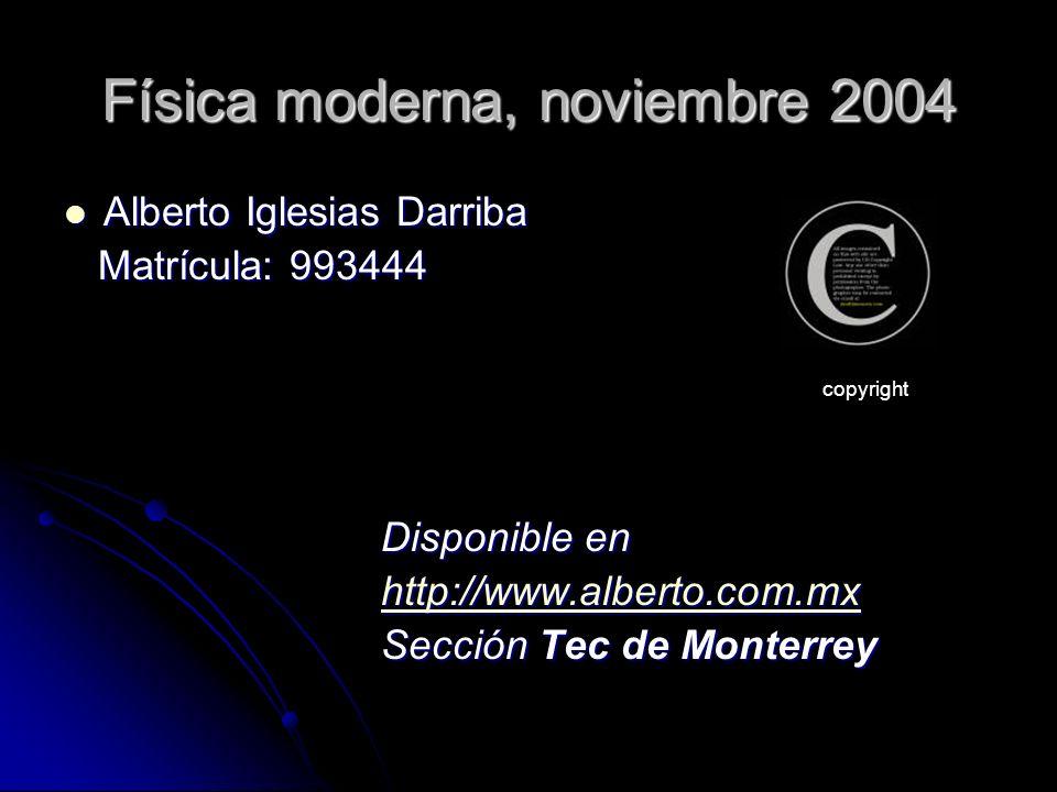 Física moderna, noviembre 2004