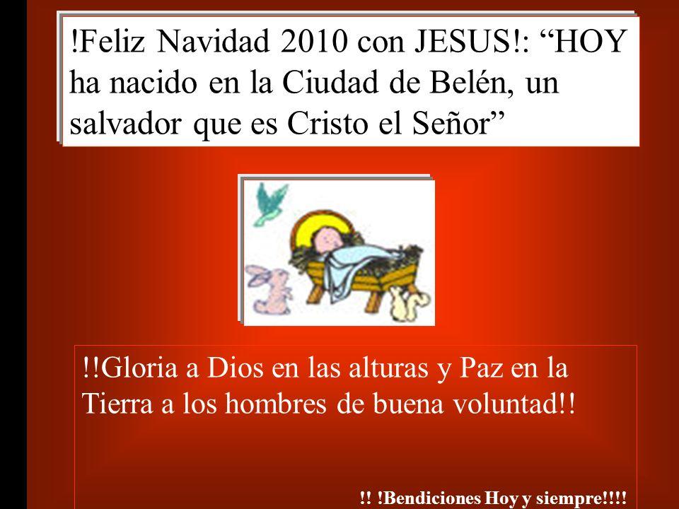 Feliz Navidad 2010 con JESUS