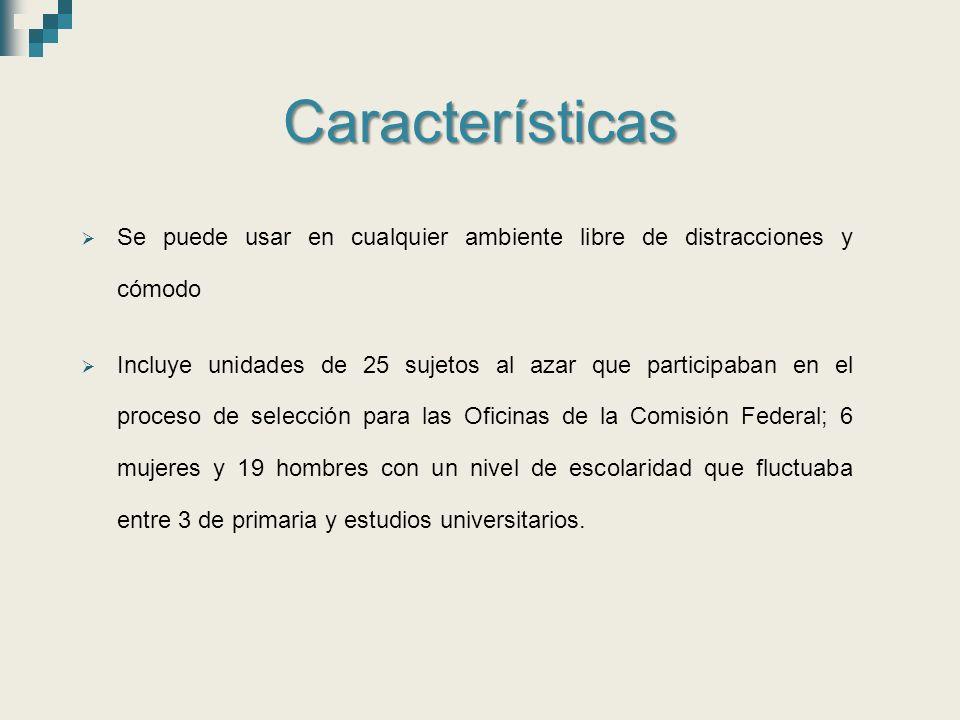 Características Se puede usar en cualquier ambiente libre de distracciones y cómodo.