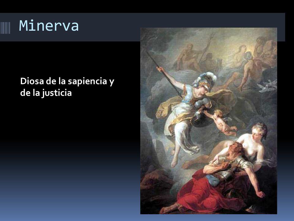 Minerva Diosa de la sapiencia y de la justicia