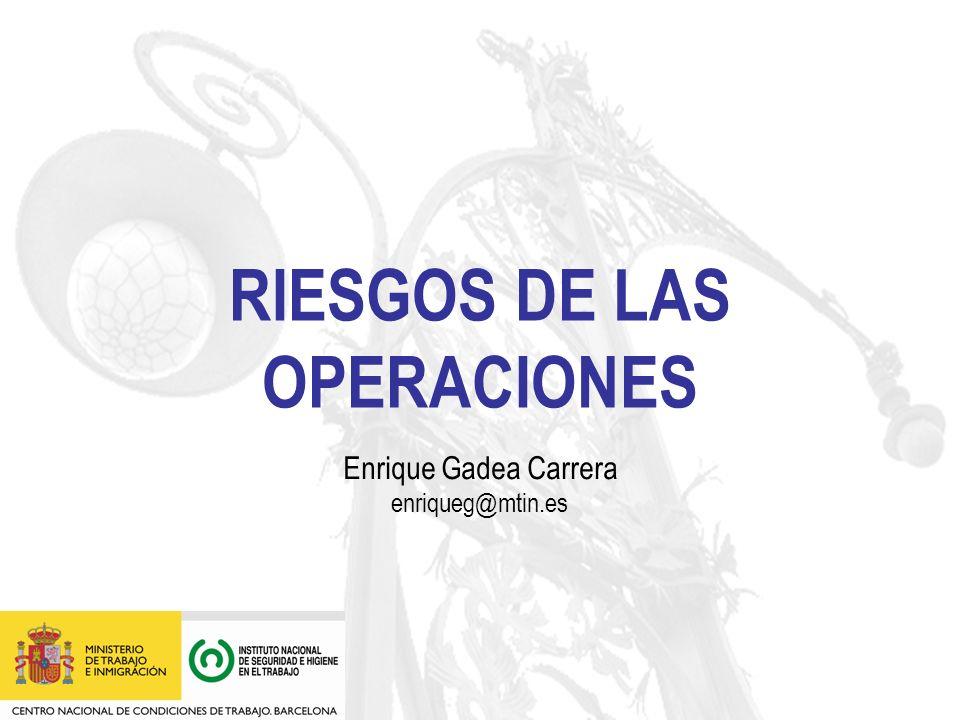 RIESGOS DE LAS OPERACIONES