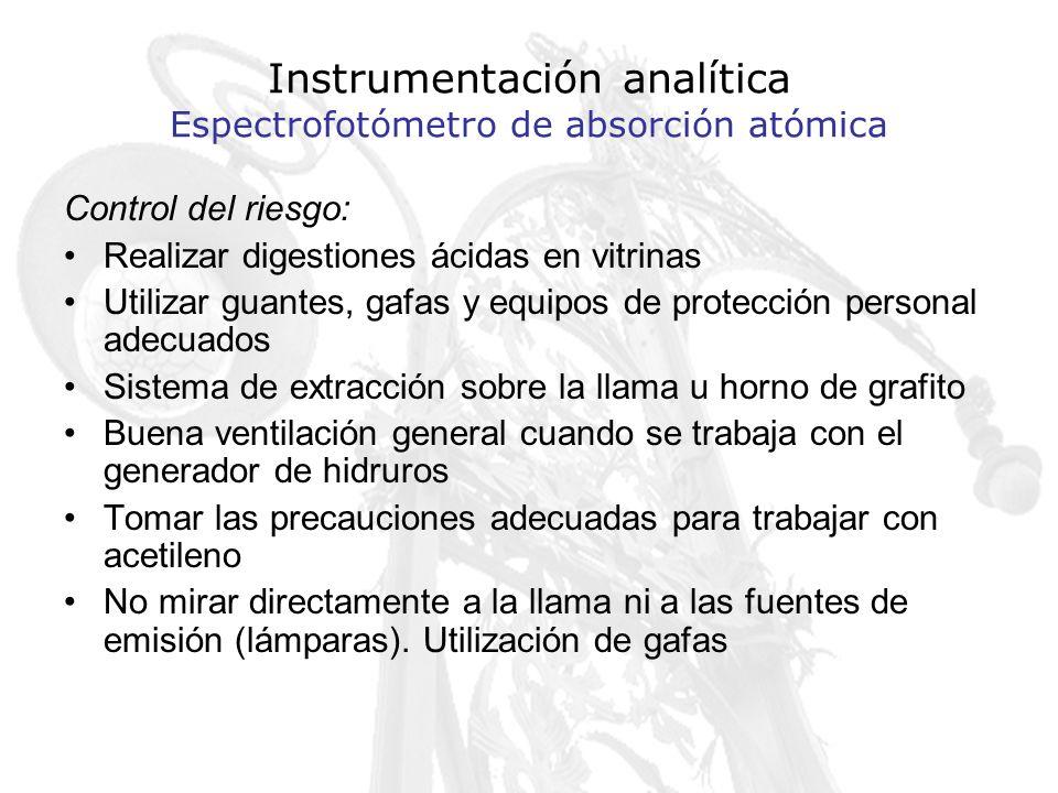 Instrumentación analítica Espectrofotómetro de absorción atómica
