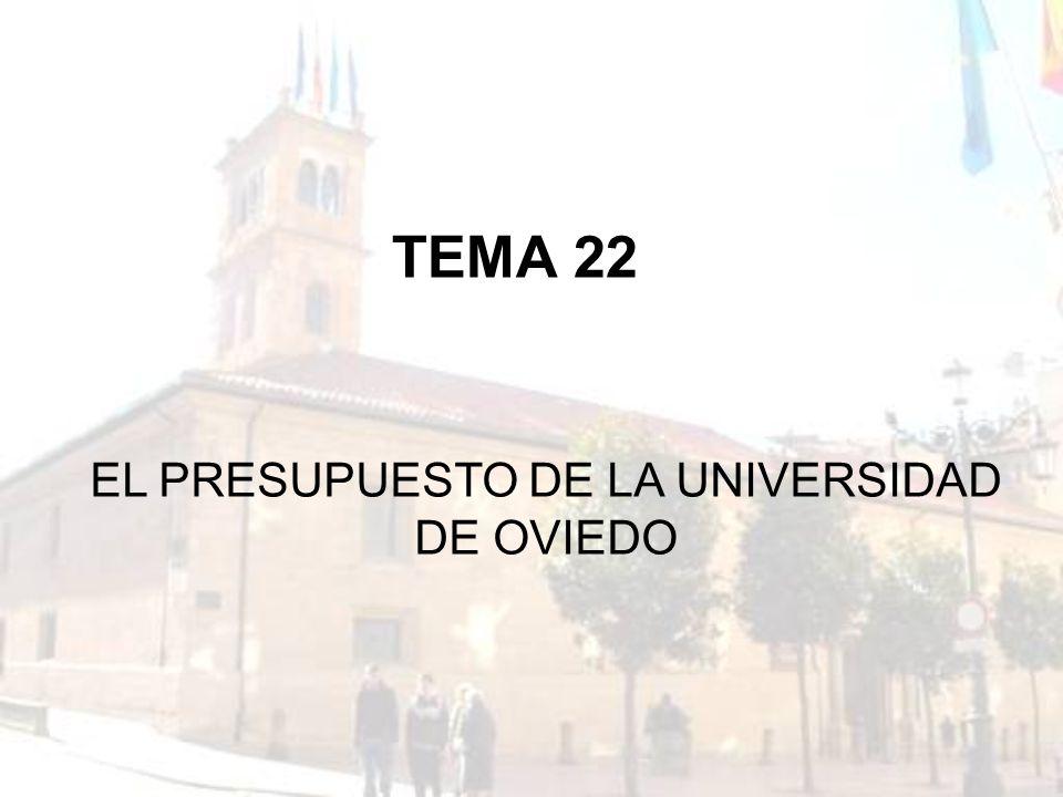EL PRESUPUESTO DE LA UNIVERSIDAD