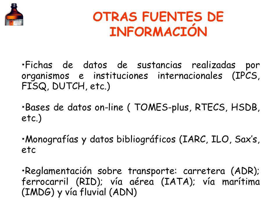 OTRAS FUENTES DE INFORMACIÓN