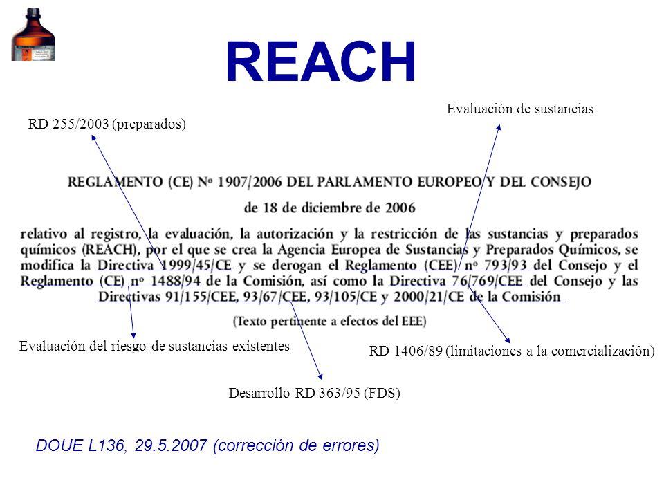 REACH DOUE L136, 29.5.2007 (corrección de errores)