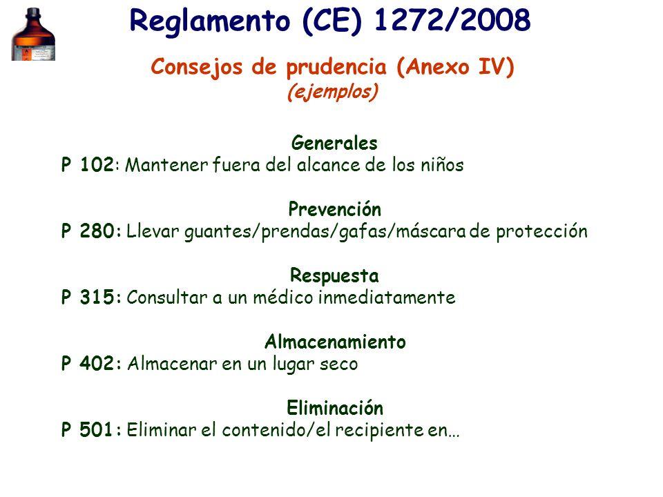 Consejos de prudencia (Anexo IV)