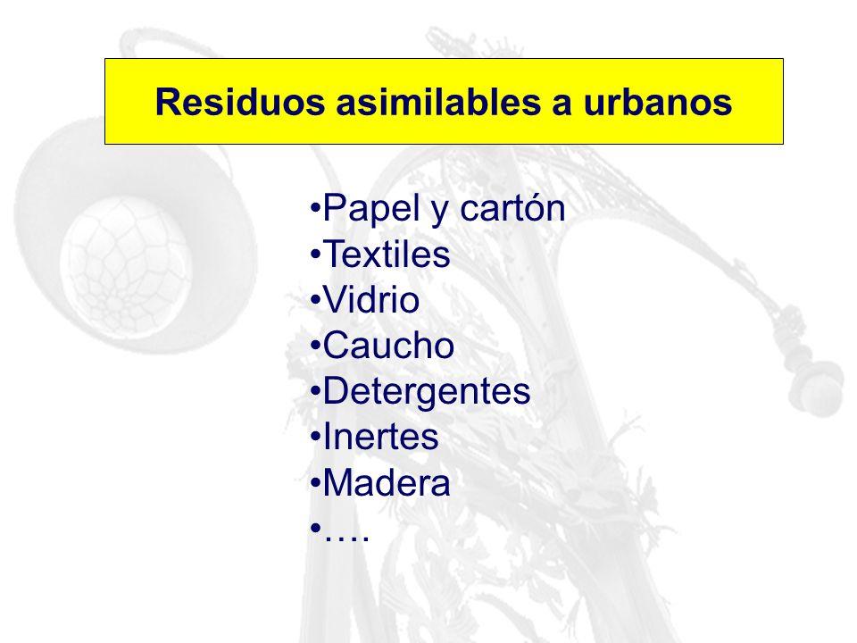 Residuos asimilables a urbanos