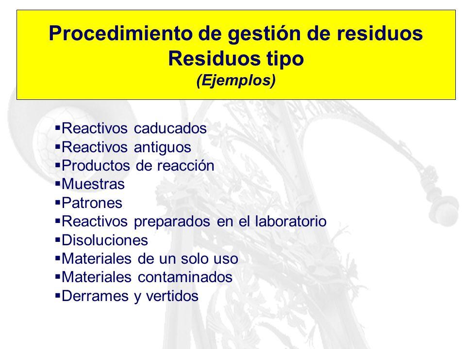Procedimiento de gestión de residuos