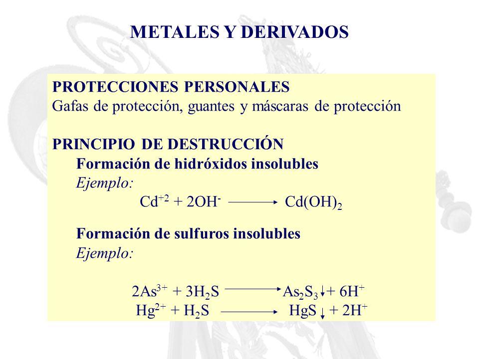 METALES Y DERIVADOS PROTECCIONES PERSONALES