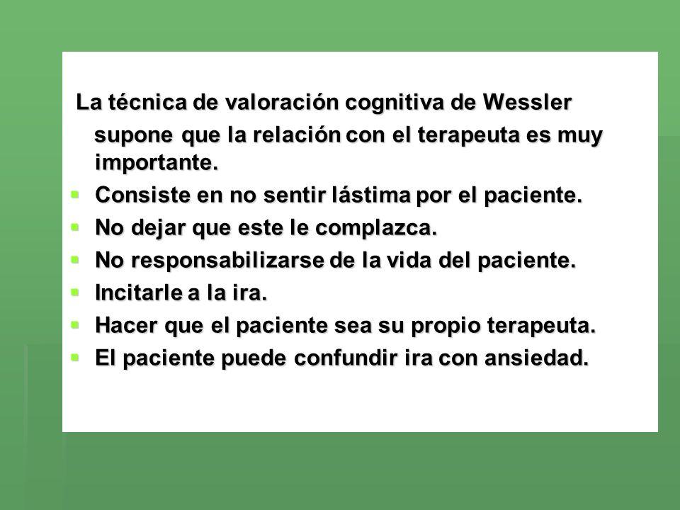 La técnica de valoración cognitiva de Wessler