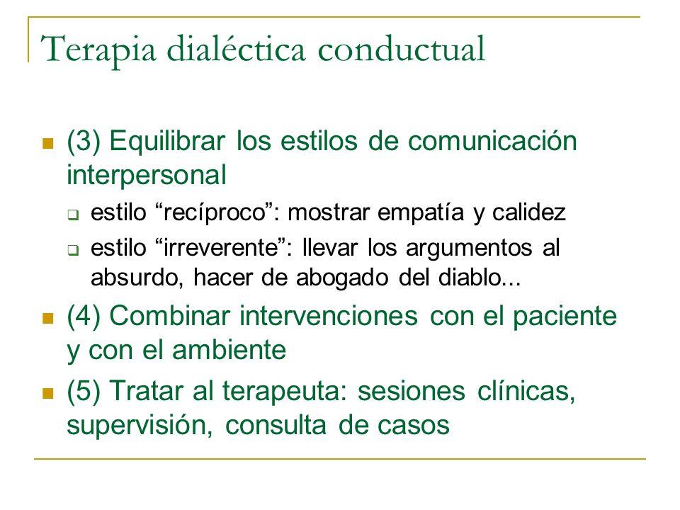 Terapia dialéctica conductual