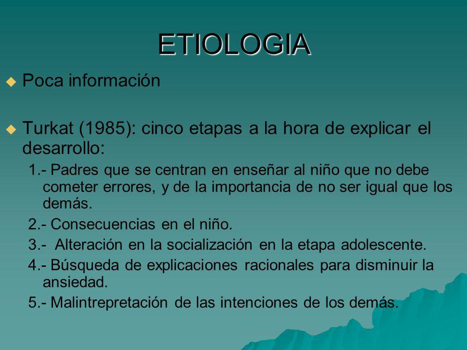 ETIOLOGIA Poca información