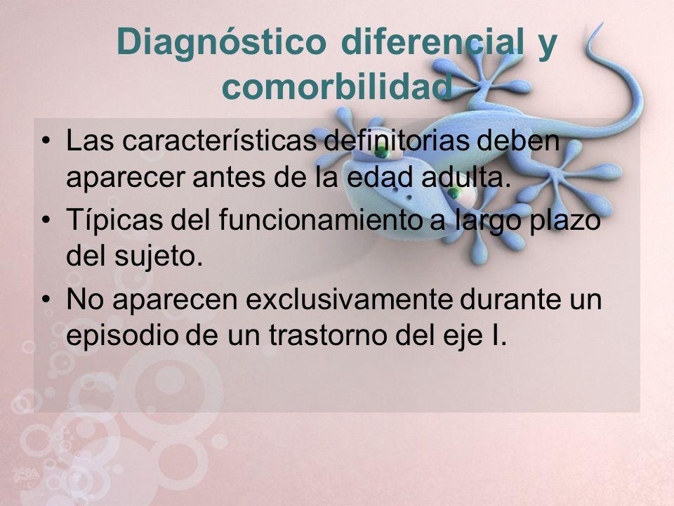 Diagnóstico diferencial y comorbilidad