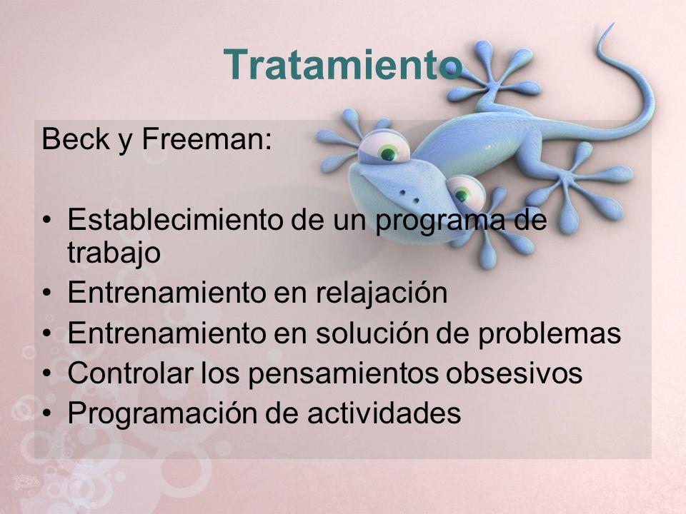 Tratamiento Beck y Freeman: Establecimiento de un programa de trabajo