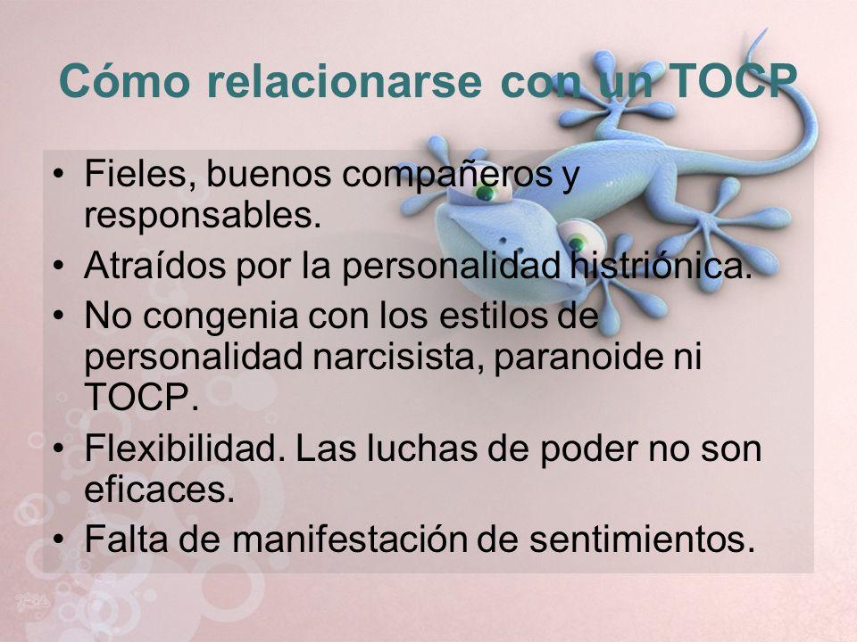 Cómo relacionarse con un TOCP