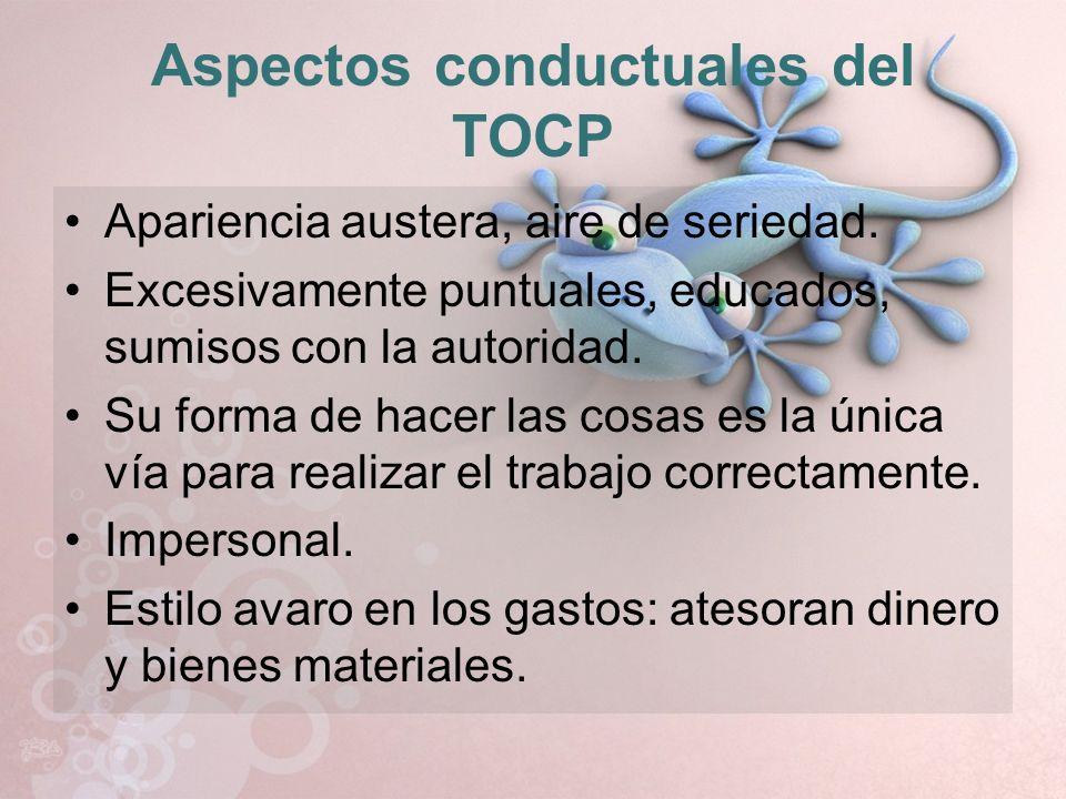 Aspectos conductuales del TOCP
