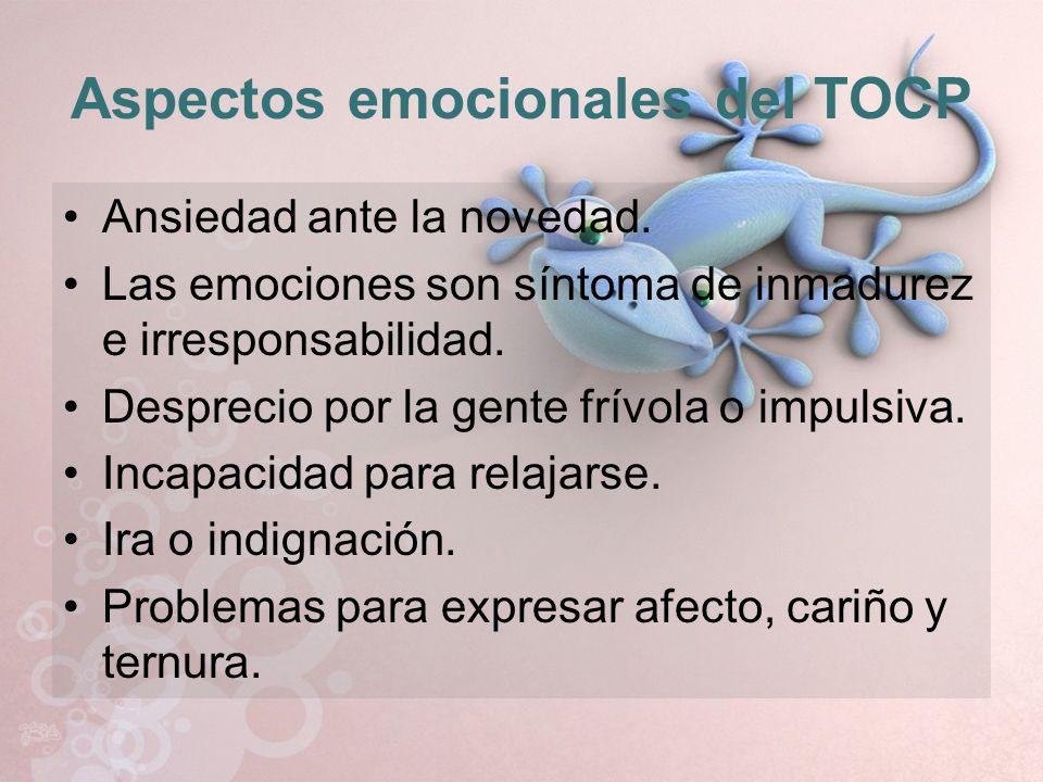 Aspectos emocionales del TOCP