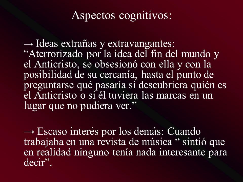 Aspectos cognitivos: