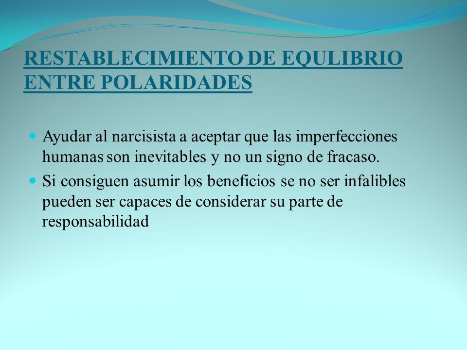 RESTABLECIMIENTO DE EQULIBRIO ENTRE POLARIDADES