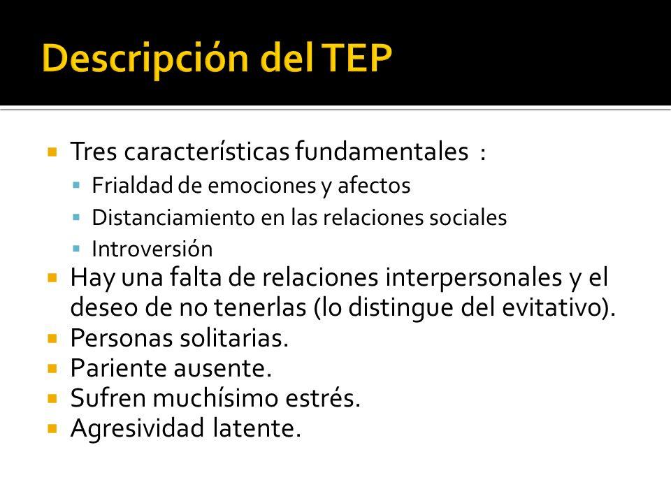 Descripción del TEP Tres características fundamentales :