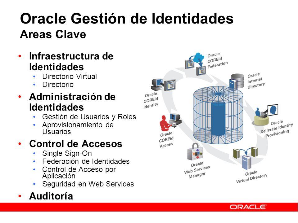 Oracle Gestión de Identidades Areas Clave