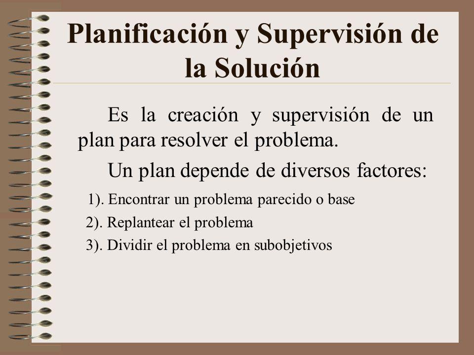 Planificación y Supervisión de la Solución
