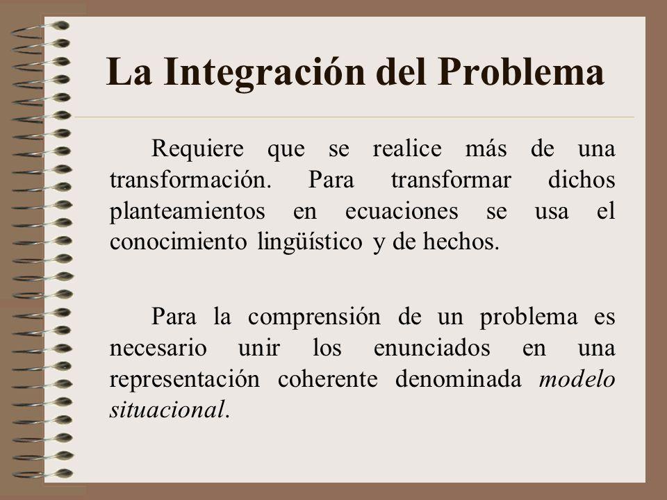 La Integración del Problema