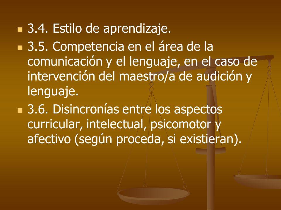 3.4. Estilo de aprendizaje.